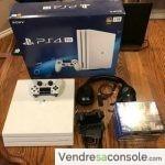 Console Sony PS4 4K 4 Pro blanche avec 7 jeux, un casque