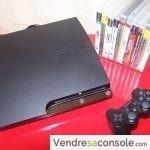 CONSOLE PS3 SLIM 120 go – 1 manette – 10 jeux PS3
